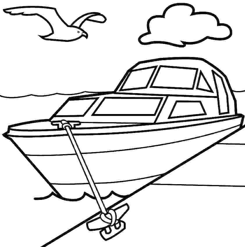 842x849 fishing boat coloring pages boat coloring pages speed fishing