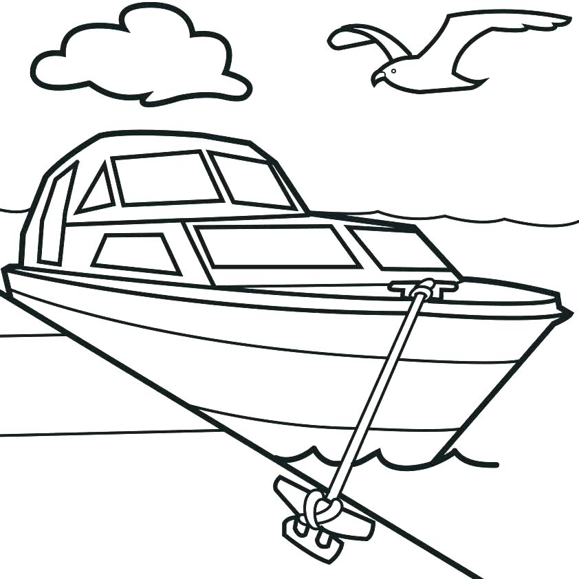 842x842 fishing boat coloring pages yacht fishing boat coloring pages