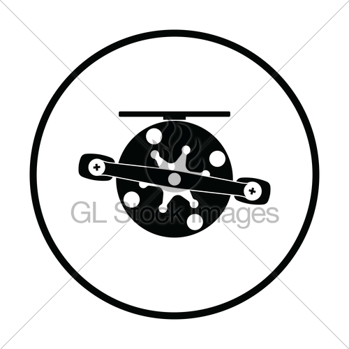 500x500 Icon Of Fishing Reel Gl Stock Images