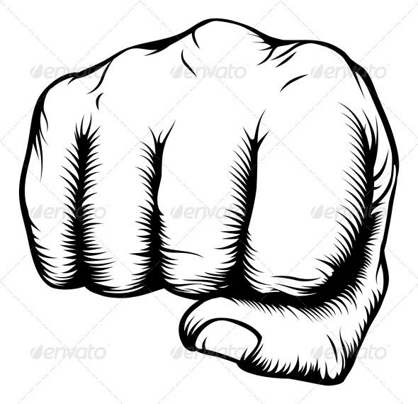 590x570 hand in fist punching from front amf in drawing fist