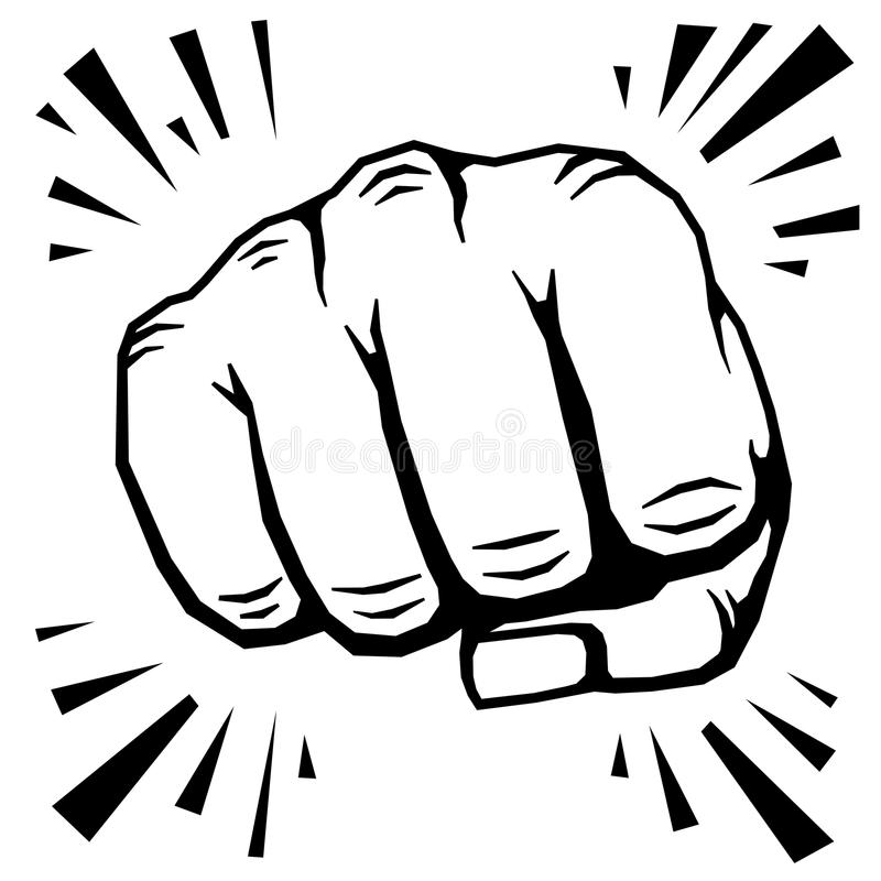 800x800 how to draw a fist punching punching fist hand vector illustration