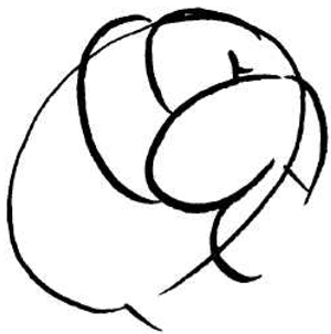 300x302 how to draw tight fist punching fist