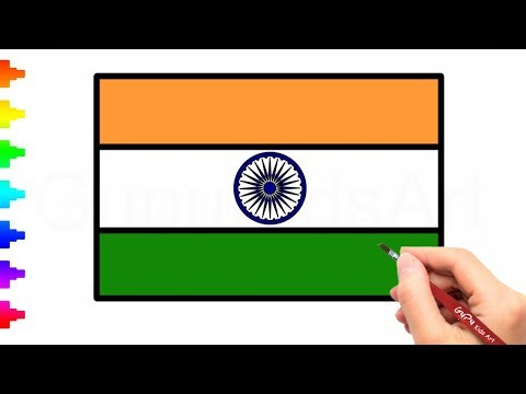 480x360 How To Draw The National Flag Of India