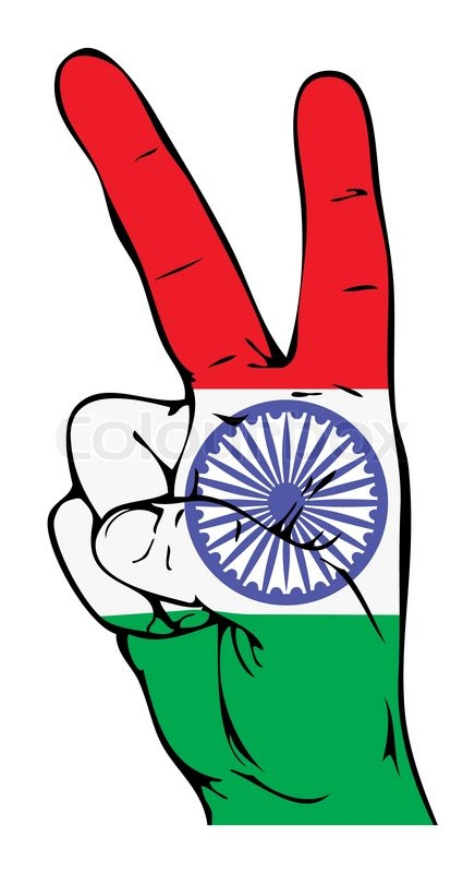 436x800 Peace Sign Of The Indian Flag Stock Vector Colourbox
