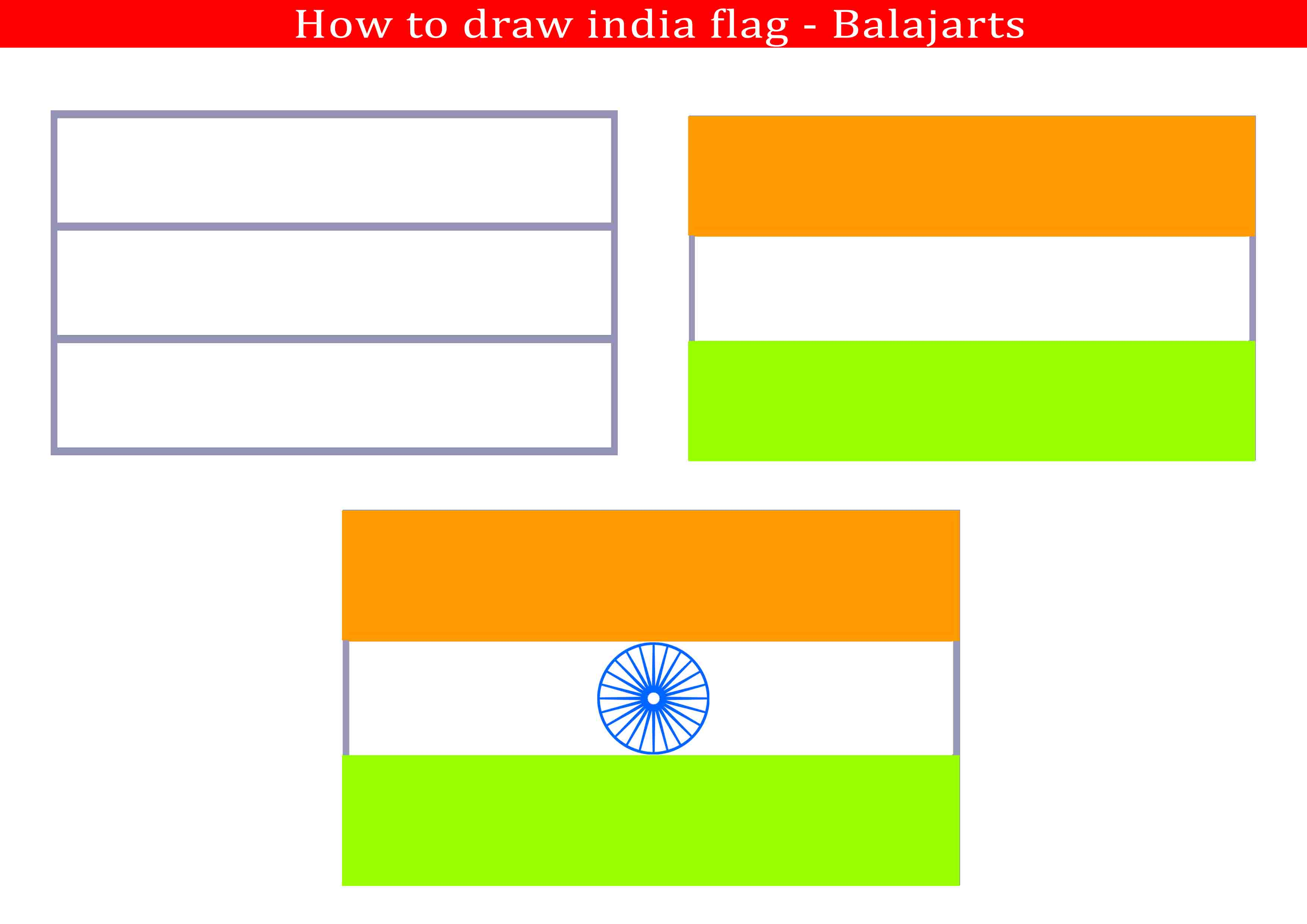 3508x2480 India Flag Drawing Balaj Arts Kanchipuram