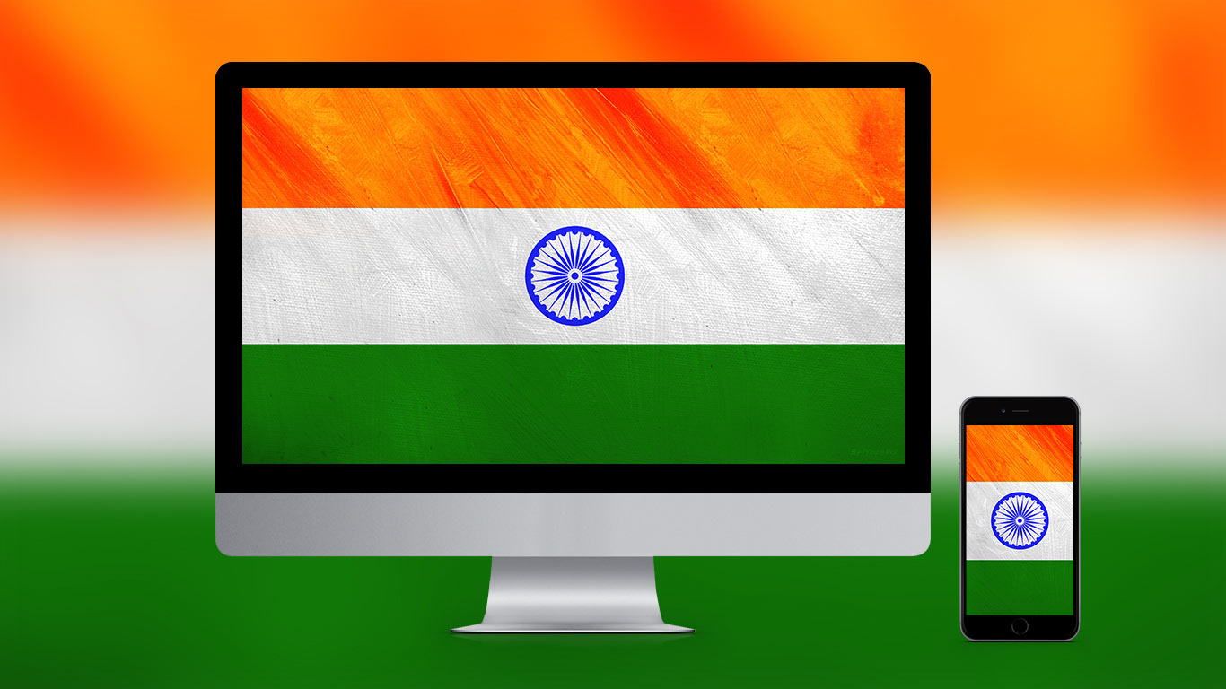 1366x768 Beautiful Indian Flag