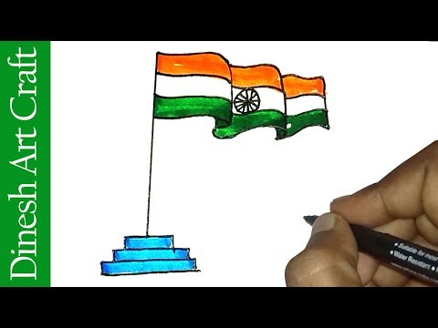 480x360 Download Indian Flag Drawing How To Draw National Flag Of India
