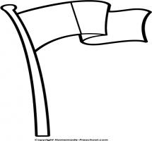 215x200 Flagpole Clipart
