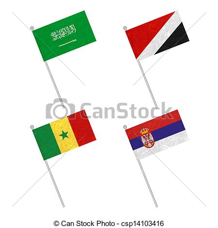 450x470 Nation Flag Flag Pole Recycled Paper On White Background