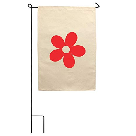 466x466 Flower Red Simple Drawing Cotton Canvas Yard House