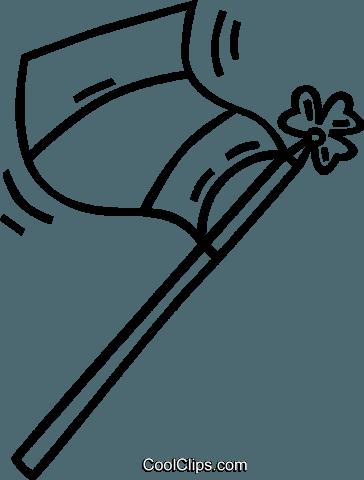 364x480 Flag On A Flag Pole Royalty Free Vector Clip Art Illustration