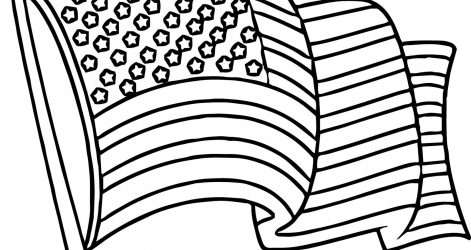 471x250 American Flag Drawing Pencil Cartoon Vector Cad Line Cute