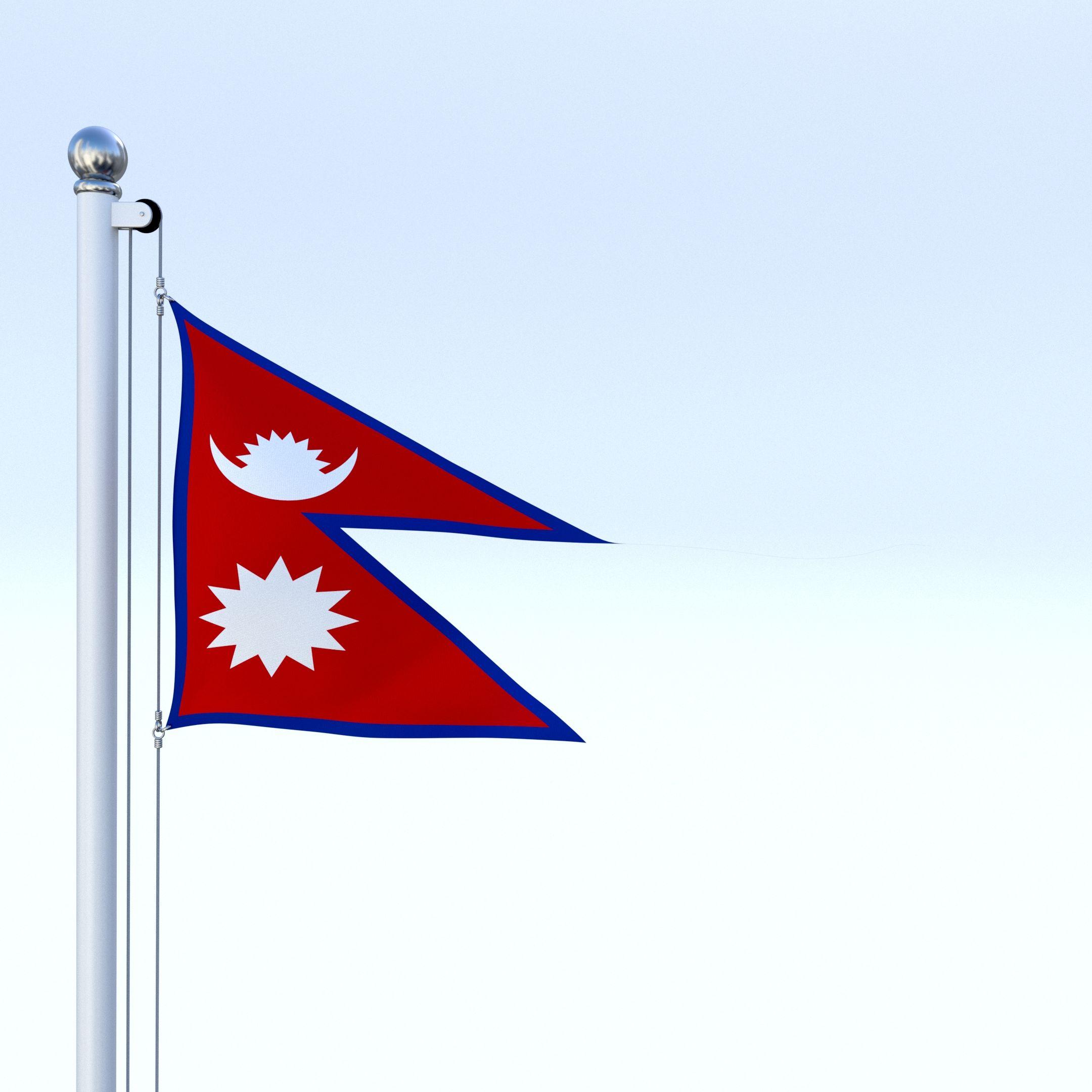 2160x2160 Animated Nepal Flag