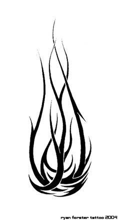 Flame Tattoo Drawings