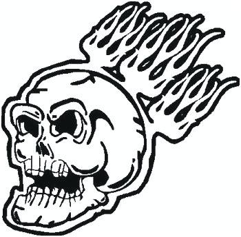 350x344 flaming skull coloring pages flaming skull