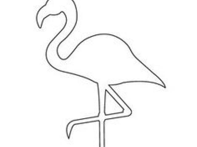 Flamingo outline. Drawing free download best