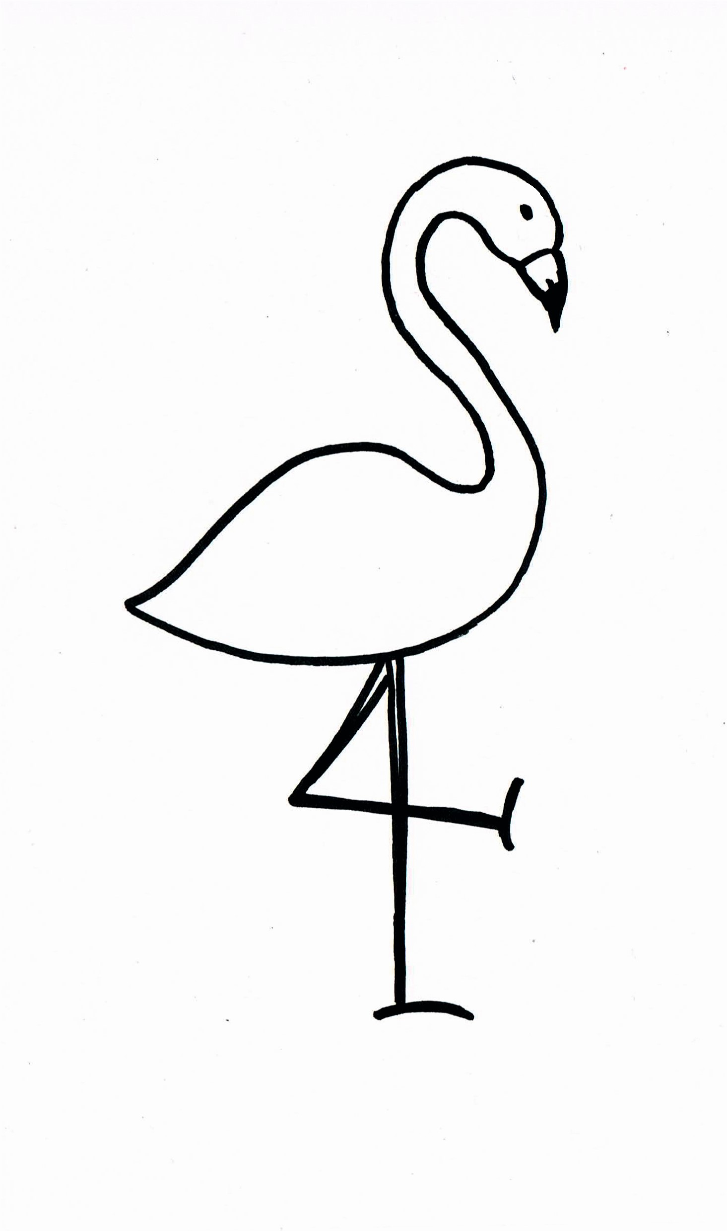 This is a graphic of Printable Flamingo Template within coloring