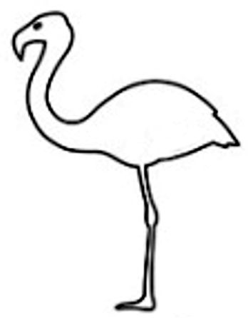 348x447 flamingo craft pattern project templates flamingo craft, abc