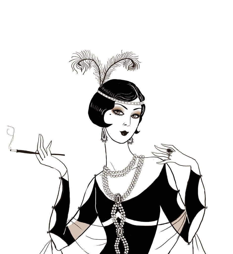 Flapper Girl Drawing Free Download Best Flapper Girl