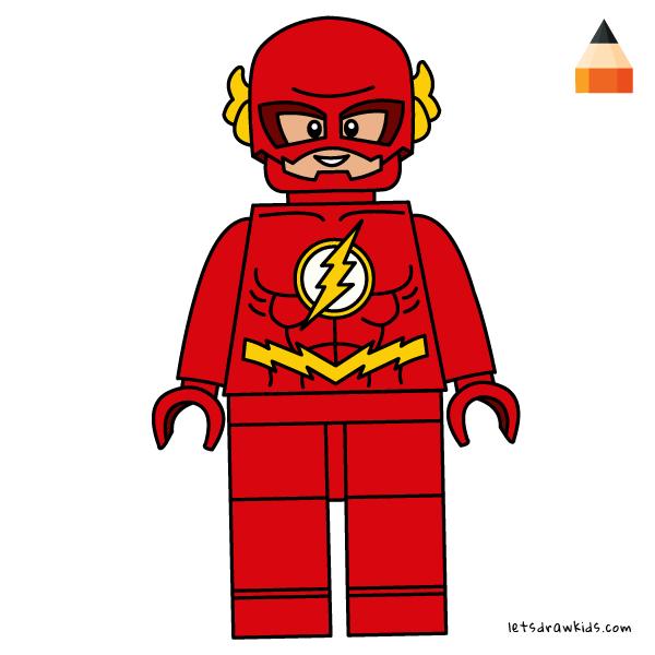 600x600 how to draw lego flash superhero flash animation