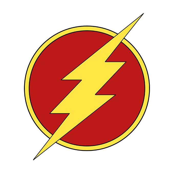 680x678 How To Draw The Flash Logo