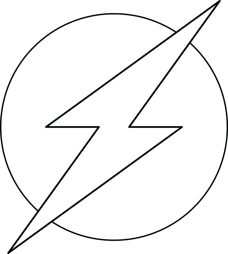 736x820 the flash coloring pages flash coloring pages symbol flash