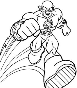 265x300 flash superhero printable coloring pages flash superheroes
