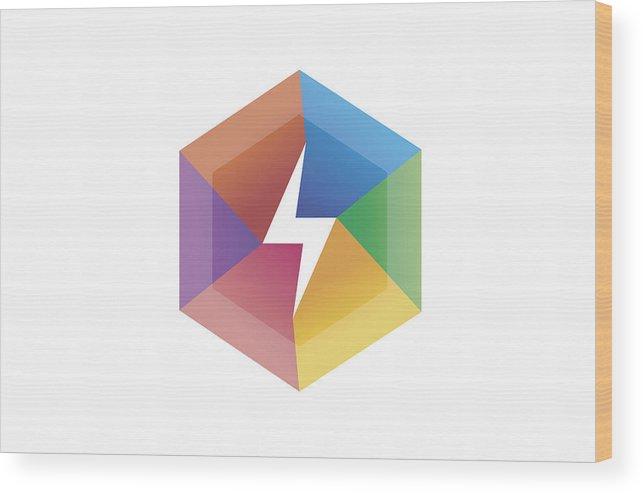 643x494 creative flash colorful hexagon lightning flash symbol design wood