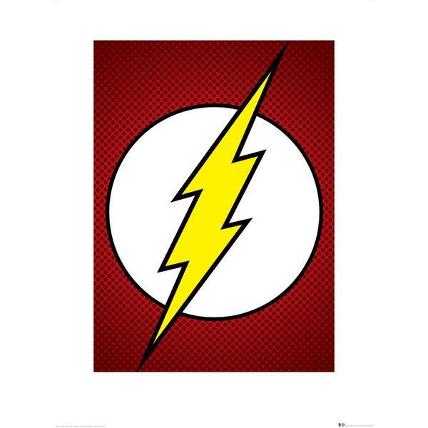 600x600 dc comics the flash symbol graphic art print in flash