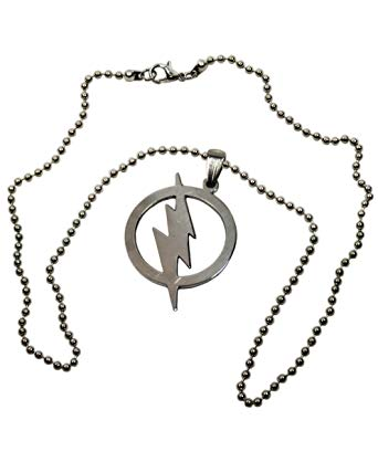 342x428 Flash Style Symbol Stainless Steel Pendant On A Inch Ball