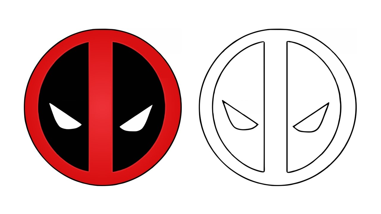 1280x720 How To Draw The Deadpool Logo