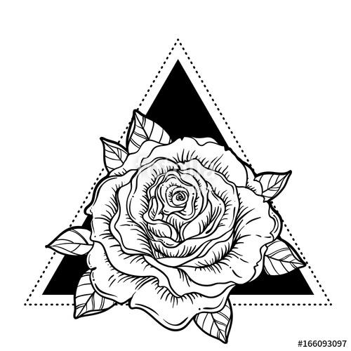 500x500 Rosicrucianism Symbol Blackwork Tattoo Flash All Seeing Eye