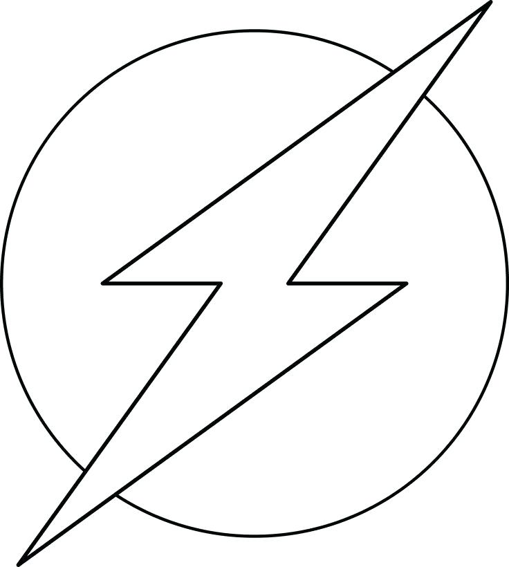 736x820 The Flash Coloring Pages Flash Coloring Pages Symbol Kid Flash