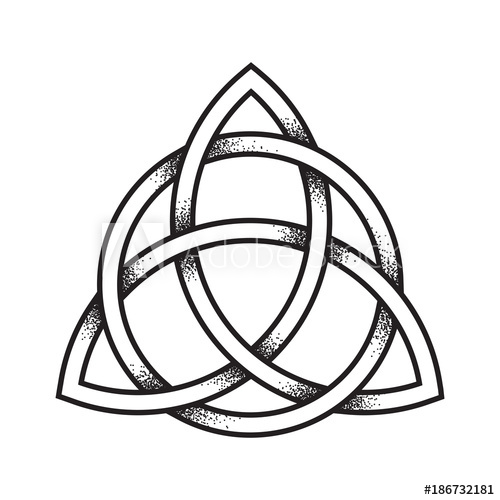 500x500 Triquetra Or Trinity Knot Hand Drawn Dot Work Ancient Pagan