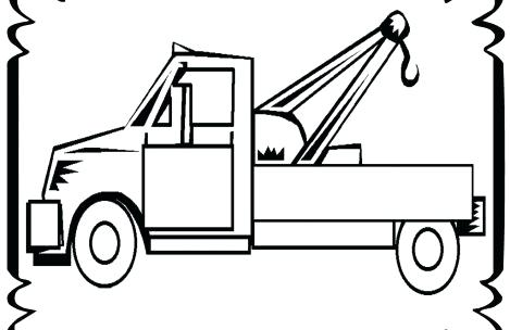 469x304 tow truck coloring pages flatbed truck in semi truck coloring
