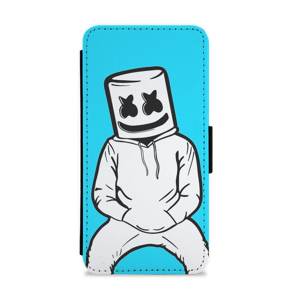 1000x1000 Blue Marshmello Flip Wallet Phone Case