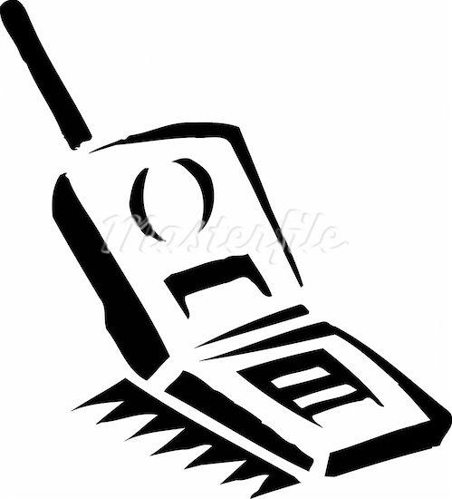499x550 Flip Phone Clip Art Image