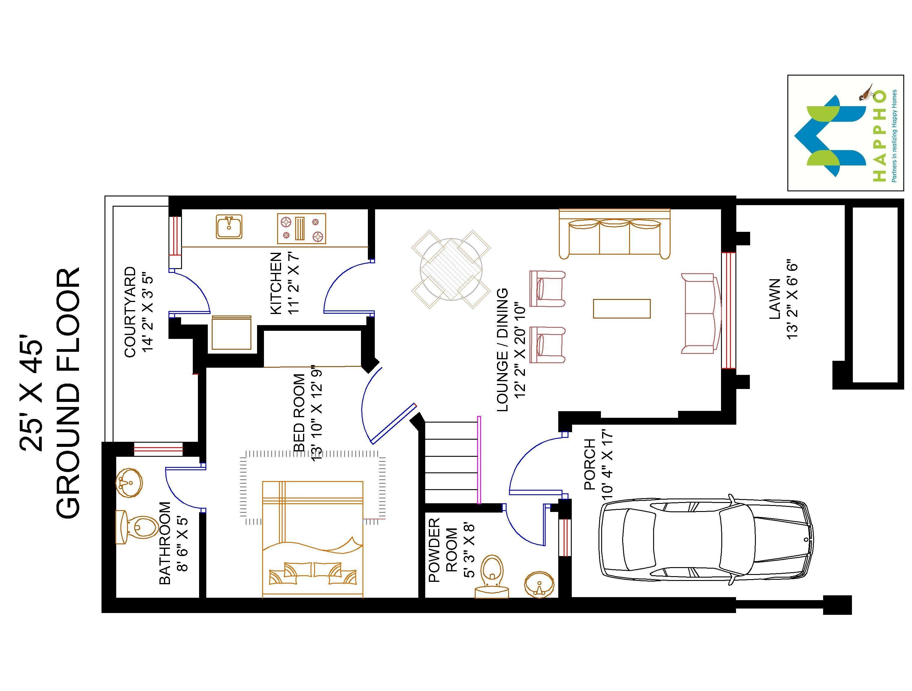3037x2304 square feet floor, square yards, floor plan, duplex