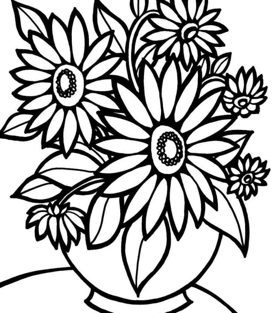 890x1024 Emerging Pictures Of Flowers To Print And Color Security Colour