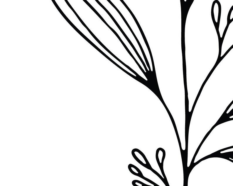 794x635 Floral Print Set Of Prints Botanical Line Art Printable Wall Etsy
