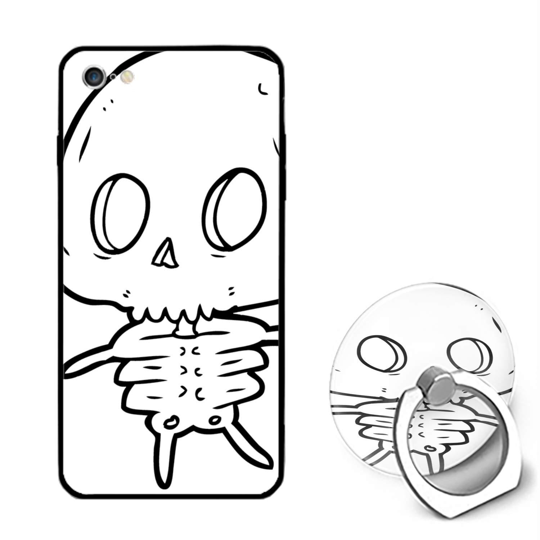 1500x1500 Lovely Skeleton Floral Print Pc Cellphone Case