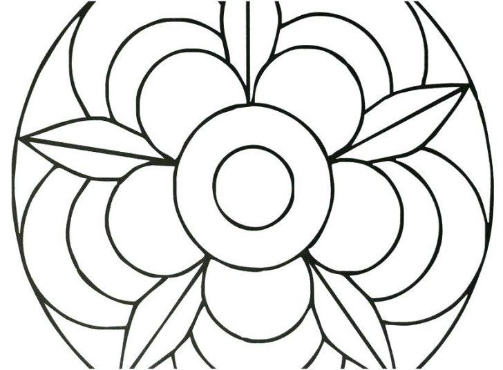 728x536 Simple Mandala Designs To Draw Dot Coloring Pages Awesome Home