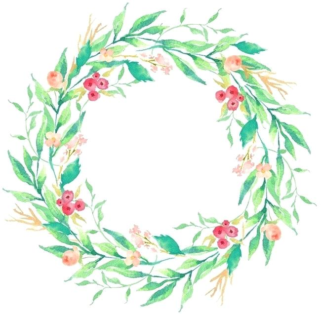 650x636 wreath png drawing circular wreath watercolor round wreath image