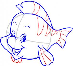 302x270 How To Draw How To Draw Flounder
