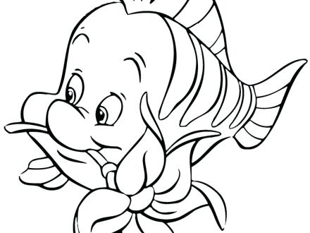440x330 The Little Mermaid Coloring Flounder And Sebastian Coloring Pages