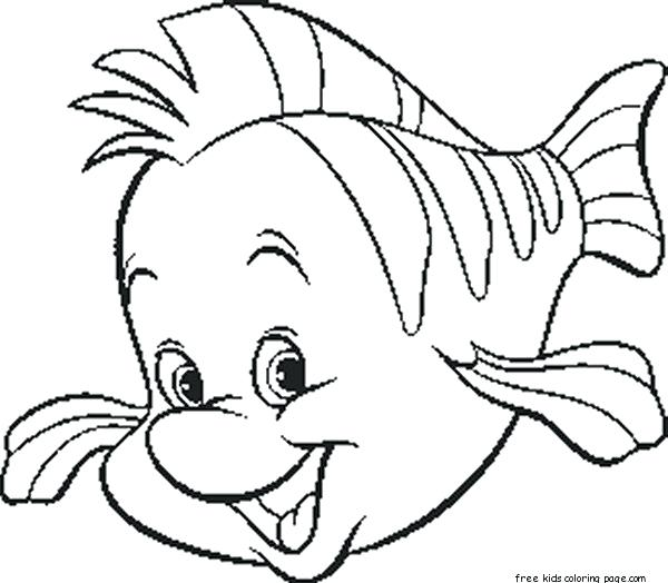 600x524 Disney Little Mermaid Coloring Pages
