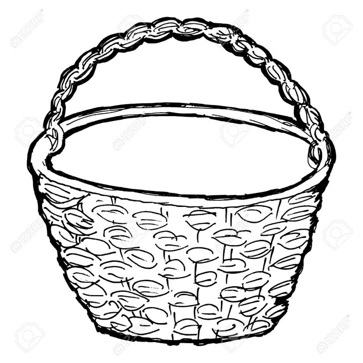 Flower Basket Drawing