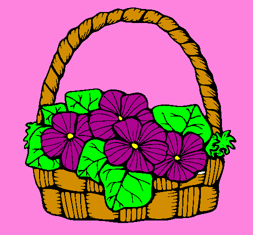 505x470 Flower Basket Drawing