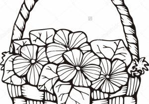 300x210 Flower Basket Drawung