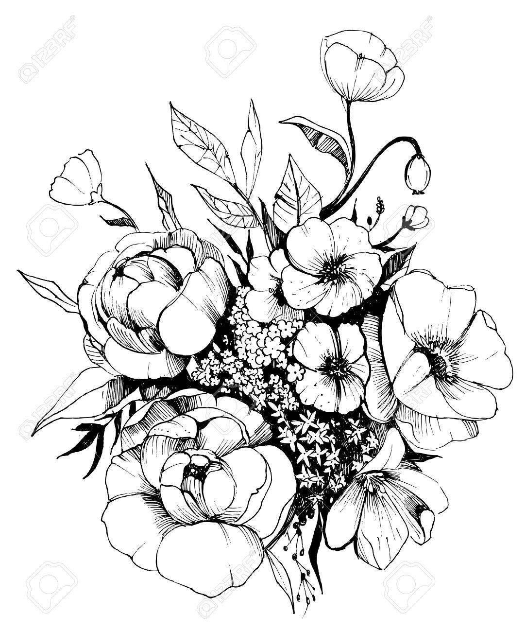 1083x1300 Flower Drawing Garden Beer Basket